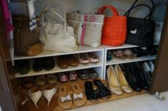 Kuzak's Closet Organized Closet with a Shoe Shelf