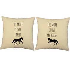 I Love My Horse Throw Pillows - Set of 2
