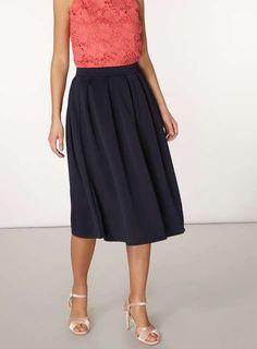 Navy Scuba Full Skirt - Workwear - Clothing - Dorothy Perkins