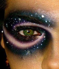 Galaxy face paint. | Halloween