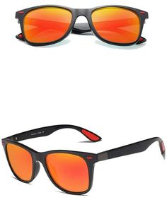 Genuine Tough Men's Polarized Sunglasses Square Fashion - Black/Red - CS18YK8HDCE #Genuine#Tough#Mens#Polarized#Sunglasses#Square#Fashion#Black#Red#CS18YK8HDCE Wayfarer Sunglasses, Polarized Sunglasses, Oakley Sunglasses, Mirrored Sunglasses, Fashion Black, Retro Fashion, Outdoor Woman, Vintage Men, Eyewear