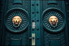 Teal Doors 8x10 Print- Travel Photography. $25.00, via Etsy.