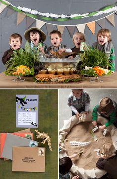 Dinosaur & fossil hunt party.