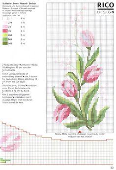 Тюльпаны в садах уже давно отцвели, но могут расцвести снова на ваших вышивках!