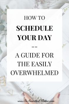 Does the thought of all the things you have to do stress you out to the point that nothing, in fact, gets done? Keep reading to learn the best way to schedule your day when you're easily overwhelmed! Work From Home Business, Online Business, Adhd Brain, Organized Mom, Family Organizer, Social Activities, Time Management Tips, Self Improvement Tips, Feeling Overwhelmed