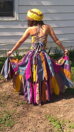 grateful double layer spinster dress by raggedyannemarie on Etsy, $225.00