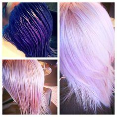 #fabulosopro #lavenderhair #dontbeafraid #evo #evosaveus @evofabuloso @evo hair @fabmelpro #PadgramKristina Laney @ Sweeter than Honey Hair Lounge in Huntington Beach, Ca