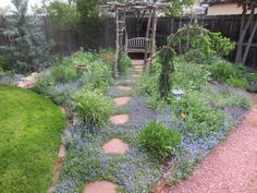 A French Country garden? You don't have to have an intricate parterre or an old limestone fountain to get that look although that w. French Country House, French Country Decorating, Summer Garden, Home And Garden, Romantic Cottage, Fenced In Yard, Backyard Landscaping, Landscaping Ideas, Backyard Privacy