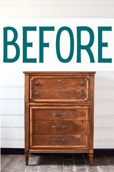 For today's makeover, we have this beautiful Basset Italian Provincial chest of drawers. Something about this dresser just makes me want to go with a bold color! This time around, I decided to try out one of the new Fusion colors, Twilight Geranium.