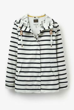 Love to have a rain jacket and this one is so cute! Love navy and white stripes for any outfit in my life!