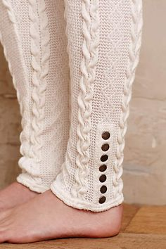 Cabled Sweater Leggings - anthropologie.com