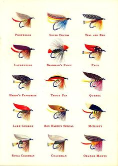 Sportsman Cigarette Fishing Flies, 1950s, tumblr with images that could be printed/used