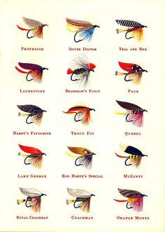 oldfishingphotos:    Sportsman Cigarette Fishing Flies, 1950s