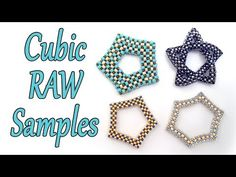 Cubic Right Angle Weave samples - Beade shapes - RAW beaded shapes - Bead Chat - YouTube