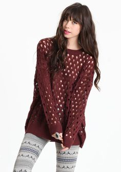 New Perspective Holey Sweater #threadsence #fashion