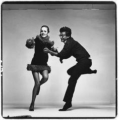 Richard Avedon with Twiggy, Paris Studio, April 1967