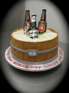 50th Birthday Beer Cake cakes y mas pasteles Pinterest