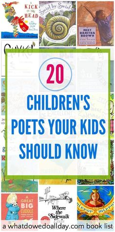 Popular children's poets kids should know and a book list with great titles. Modern and classic poetry.