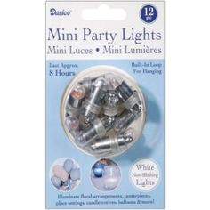 White Non-Blinking Balloon Lights | 12pc for $12.50 in Decorations