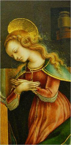 Carlo Crivelli - Annunciation (detail) 1486