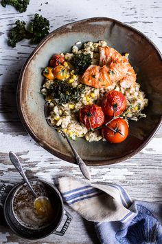 Brown Butter Lobster, Sweet Corn and Fontina Risotto