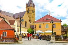 """Sibiu was voted Cultural European Capital in 2007 and named by Forbes as, """"Europe's most idyllic place to live"""". Here are 11 things to do in Sibiu. Tour Around The World, Around The Worlds, Sibiu Romania, Stuff To Do, Things To Do, Group Tours, Travel Tours, Bucharest, Horseback Riding"""