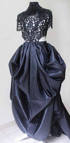 Rococo steampunk dress III by Pinkabsinthe.deviantart.com on @DeviantArt