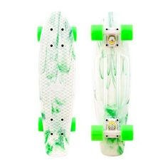 Penny plastic skateboard 27 Inch Marble Nickel Complete White/Green