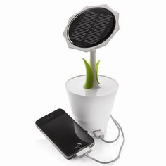 The Solar Sunflower collects energy via the solar panel and applies this to generate durable power for your mobile devices.