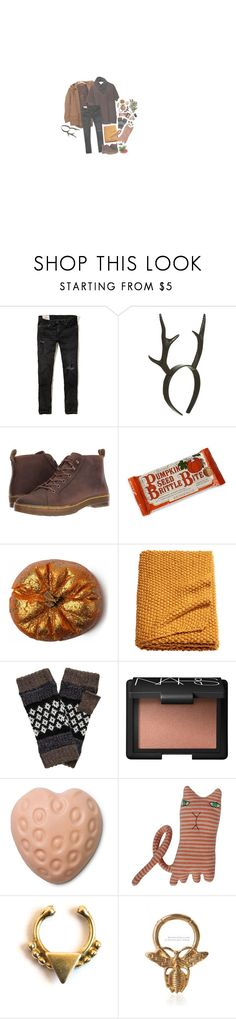 """Nature Walk"" by irondeficient ❤ liked on Polyvore featuring Cheap Monday, Physicians Formula, Hollister Co., Antler, Dr. Martens, NARS Cosmetics, Donna Wilson and Forever 21"
