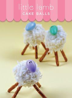 Easter sheep / lamb  Cake balls