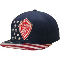 94d991d57b5 Colorado Rapids adidas Patriotic Snapback Adjustable Hat - Navy