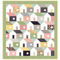 Moda Home Again Quilt Kit Farmers Daughter Fabric by Lella Boutique 64 x 68 by PrivateSourceQuiltin on Etsy
