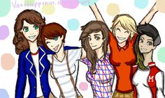 Female One Direction Cartoon | Haha we LOVE this picture that Darie has created of the One Direction ...