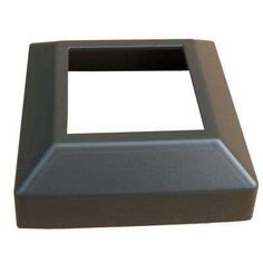 3 in. x 3 in. Bronze Aluminum EZ Post Low Profile Base Cover