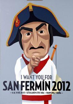 Nos ha encantado el cartel de las fiestas de San Fermín 2012