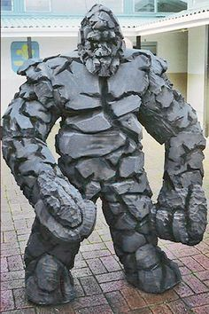 This rock golem is legendary.