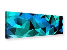 Leinwandbild Panorama 3D-Diamonds