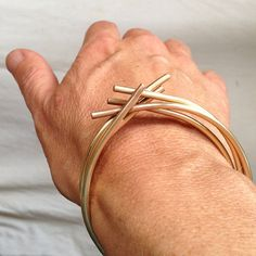 Unique bangle barbed wire by PraxisJewelry on Etsy praxis jewelry