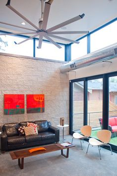 Isis a large modern ceiling fan for the home big ass fans york street residence with isis by big ass fans designed by west standard design build mozeypictures Image collections