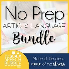 Take the stress out of preparing for your speech and language sessions by simply clicking the print button and being done! This bundle contains three comprehensive, no prep activities to help you effortlessly prepare materials for any goal that you may need to target. This bundle contains: No Pr...