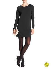 Factory Raglan-Zip Sweater Dress