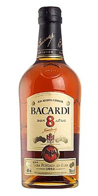 Bacardi 8 Bacardi Macallan Whiskey Bottle Whisky