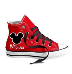 a5df3a0c641555 Personalized Infant and Kids Custom Mouse Ears High Top Converse Shoes  Cheap Converse