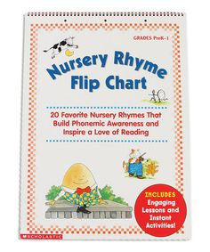 Another great find on #zulily! Nursery Rhyme Flip Chart #zulilyfinds