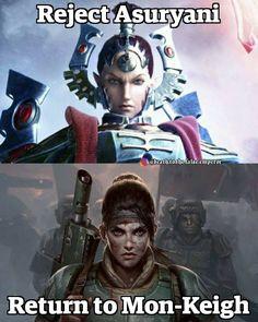 Return to Mon-Keigh! Warhammer 40k Memes, Warhammer Art, Warhammer 40000, Grimgar, Far Future, Heres To You, Borderlands 3, Geek Humor, The Grim