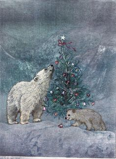 Dufex picture print, topper - polar bear and cub