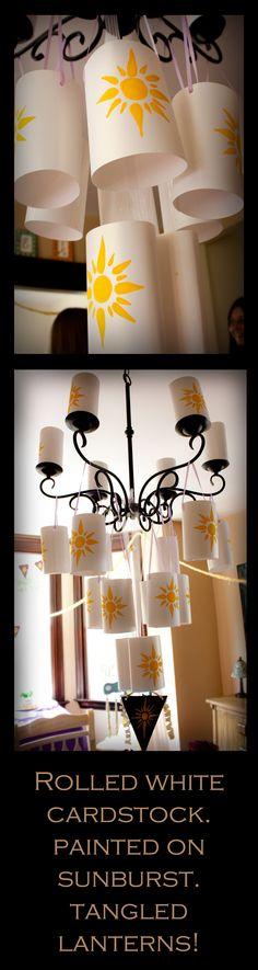 Easy tangled lanterns