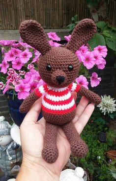 Crochet Zoey the bunny amigurumi gift child