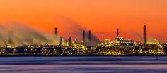 Chempark Dormagen after sunset by Juergen Huettel Photography